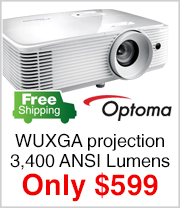3400 ANSI Lumens Projector just $599