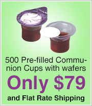 Kingdom Pre-Filled Communion Cups with Wafers