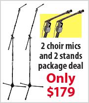 2 Choir Mics & 2 Stands package