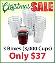 3000 Clear Disposable Communion Cups just $36