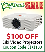 $100 off select EIKI Projectors with Coupon