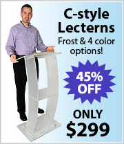 $299 Frost and Colored C-Style Lecterns