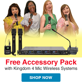 Free Accessory Package with any SYSV5 Microphone System purchase