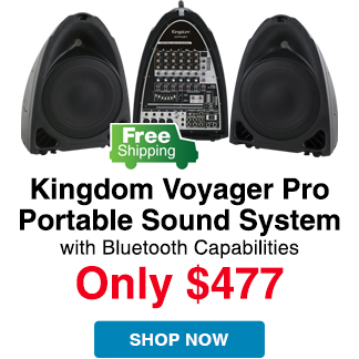 Free Shipping on Kingdom Voyager Pro Portable PA System