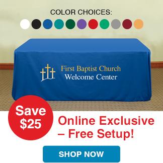 Premium Table Covers- Free Setup - Save $25