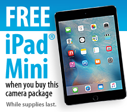 Free iPad mini while supplies lasts with purchase of this camera package