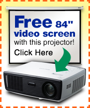 purchase a ricoh pj s2130 projector and receive a free video screen