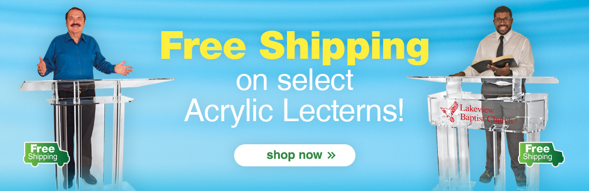 Free Shipping on these Acrylic Lecterns