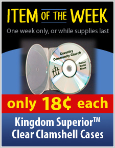 33% off the Superior Soft Poly Clear CD Clamshell