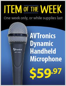 AVTronics Handheld Dynamic Microphone - Super Cardioid