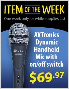 AVTronics Handheld Super Cardioid Dynamic Microphone with Switch