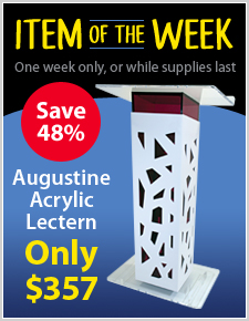 Augustine Acrylic Lectern