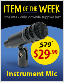 Instrument Mic for $29.99