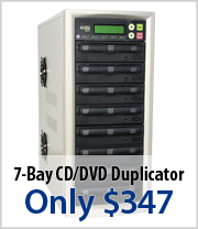 7 Bay CD/DVD Duplicator just $347