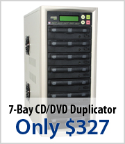 7 Bay CD/DVD Duplicator just $327