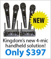 Kingdom AKG WMS40 Quad Handheld Wireless System