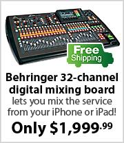 Behringer X32 digital audio mixing board