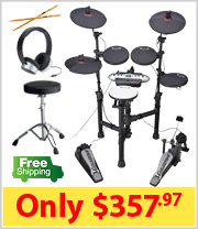 Carlsbro CSD130 Compact Electronic Drum Kit Package
