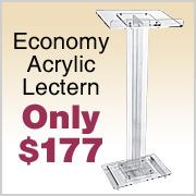 Economy Acrylic Lectern