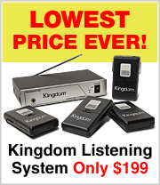 Lowest price ever on this Kingdom Assisted Listening System