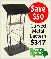 Free Shipping on KMLSTL Metal Lectern