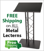 Free Shipping on all Metal Lecterns