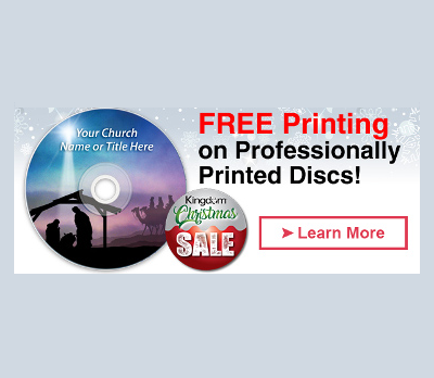Free Printing on Kingdom brand CDs and DVDs