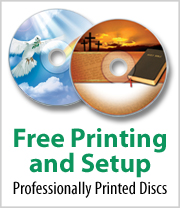 Free Printing and Setup on Professionally Printed Discs