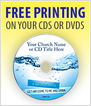 Free Printing on your CDs and DVDs order of 100 or more