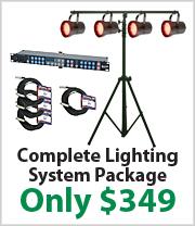 P36 LED SYS Par 36 RGB LED Lighting Package