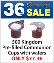 Lowest Price Ever on Box of 500 Kingdom Prefilled Communion Cup with Wafers