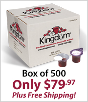 Kingdom Prefilled Communion Cup with Wafers