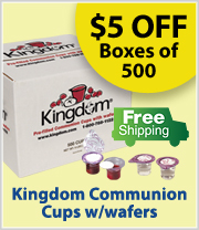 Free Shipping on Kingdom Pre-Filled Communion Cups