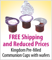 Free Shipping on Pre-filled Communion Cups