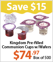 Save BIG on Pre-filled Communion Cups