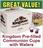 Stock up now on Prefilled Communion Cups