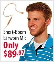 AVTronics Short Boom Earworn Microphone