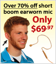 Short Boom Earworn Mic lowest price ever!