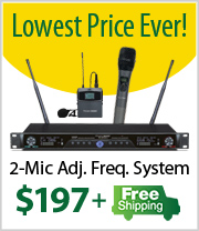 Free Shipping on Pendomax 2 Mic Wireless System