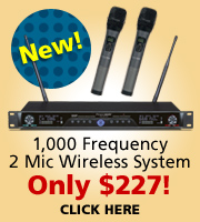 1000 frequency microphone system for $277