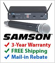 Free Shipping on Samson Concert 88 Wireless Mics