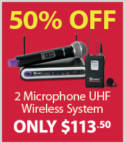 Half Price UHF Microphone System with Handheld and Lapel