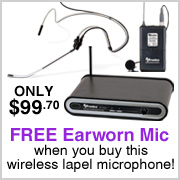 Free Earworn Mic with Lapel Mic system Purchase