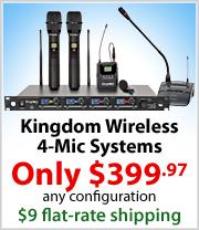 Kingdom Wireless 4 Mic Systems $399.97