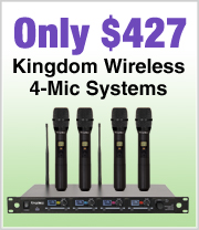 Kingdom 4 Mic Systems just $427
