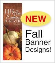 Shop our new Fall designs for Banners