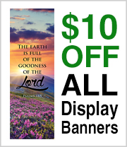 $10 off and Free Shipping on Kingdom Banners