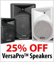 25% off Kingdom VersaPro Speakers