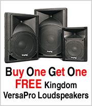 VersaPro Loudspeakers Buy One get One Free