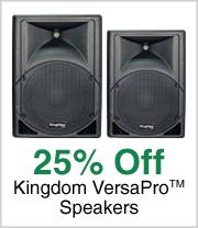 25% off Kingdom VersaPro™ Speakers